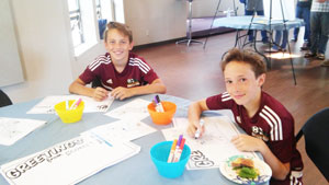 Soccer Kids Coloring