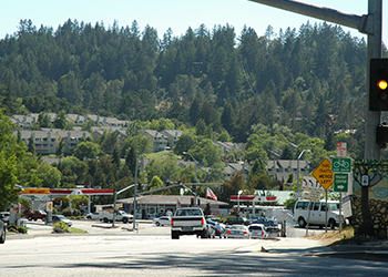 photo of a street in scotts valley